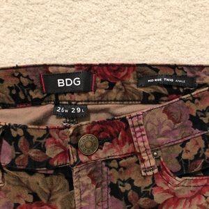 BDG Jeans - BDG Velvet Floral pants